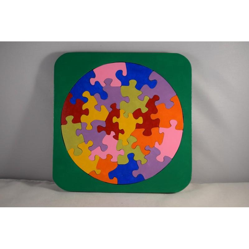 Brightly coloured circular...