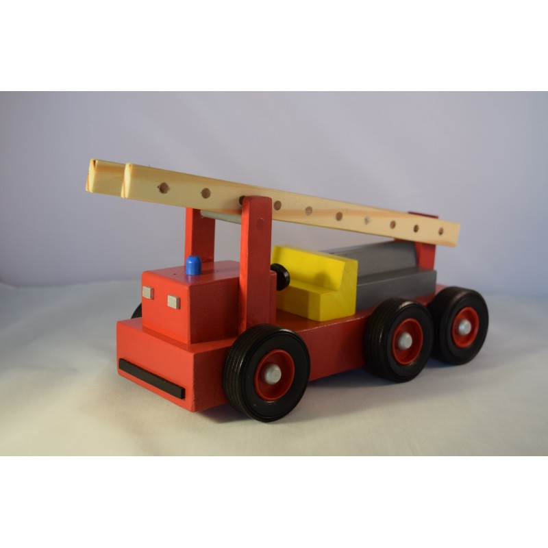 Wooden fire truck with...