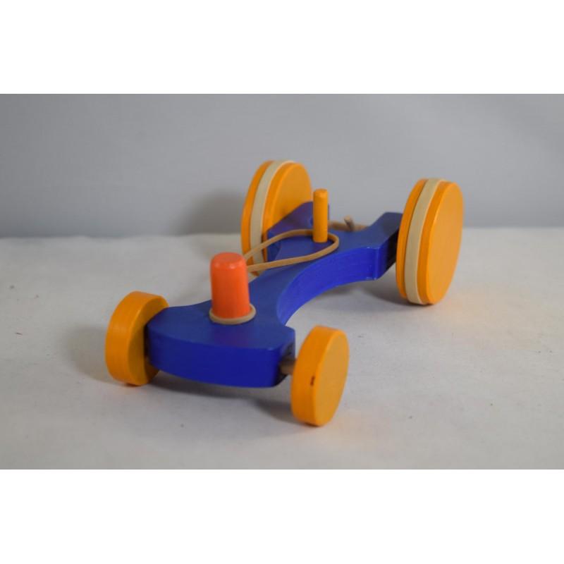Wooden Elastic Band Car