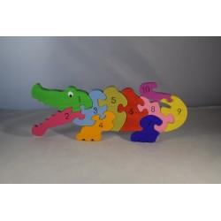 Educational Crocodile Puzzle