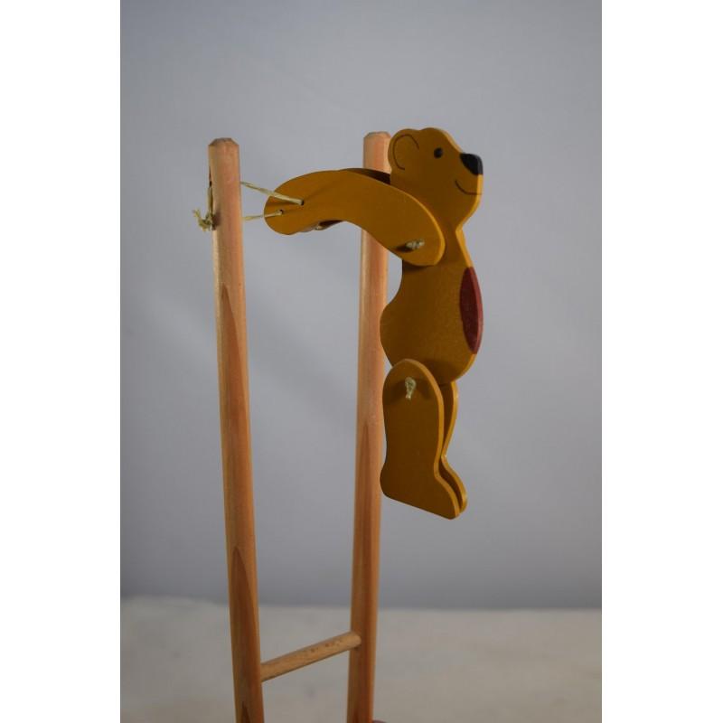 Colourful wooden acrobat...