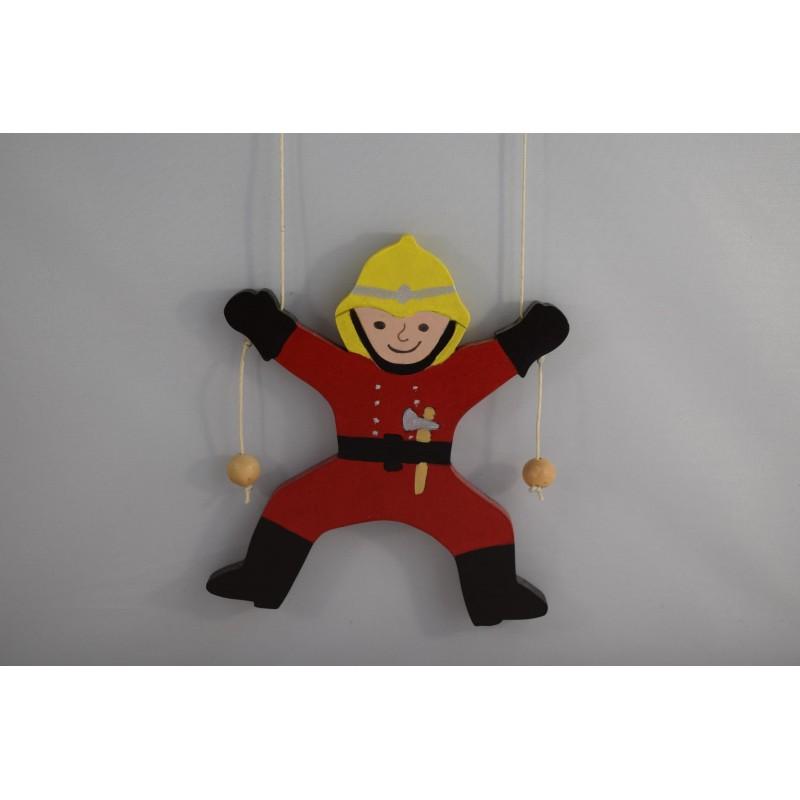 Wooden climbing fireman