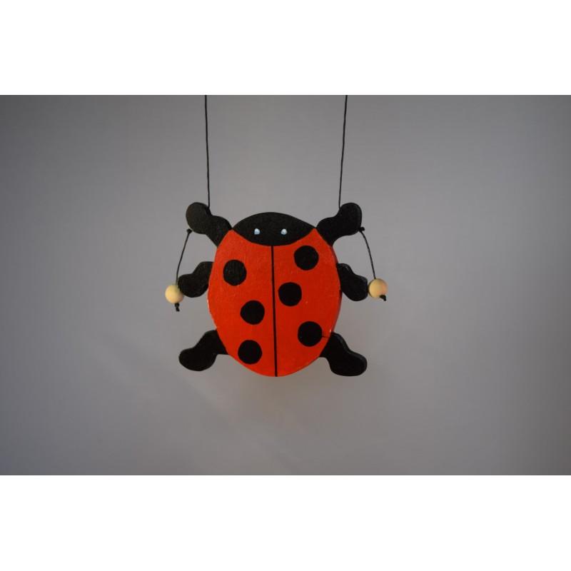 Wooden climbing ladybird