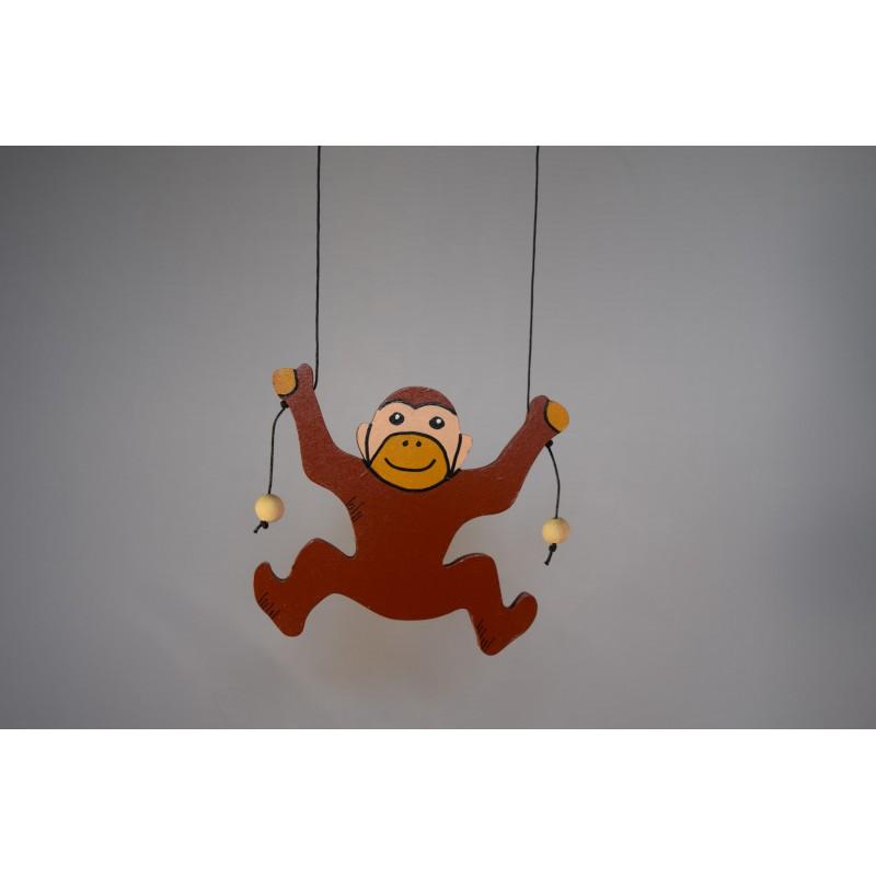 Wooden climbing monkey