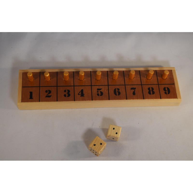 Wooden Shut the Box numbers...