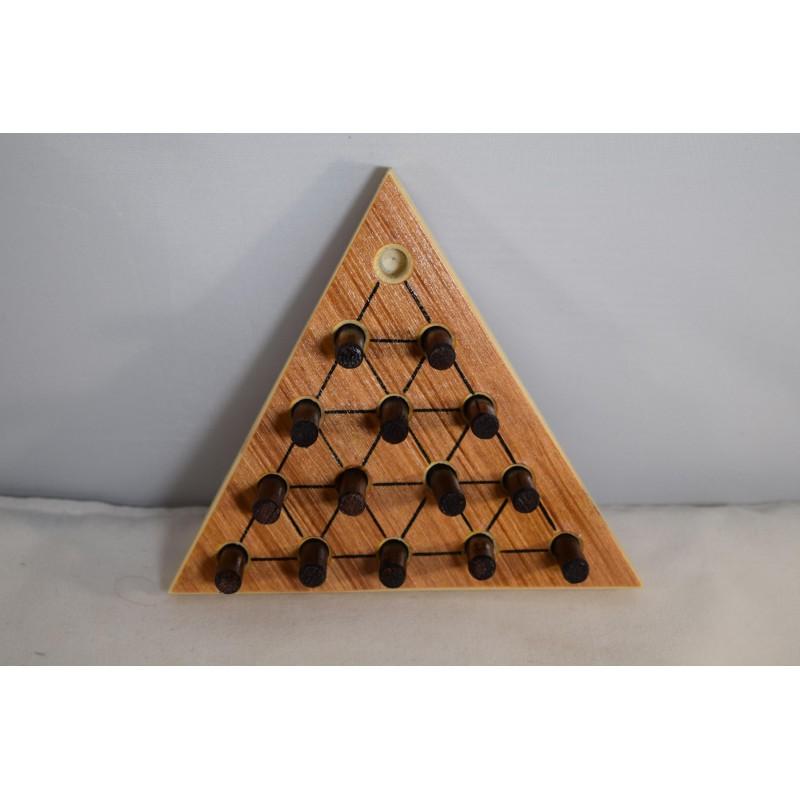Wooden Solitaire Peg Puzzle