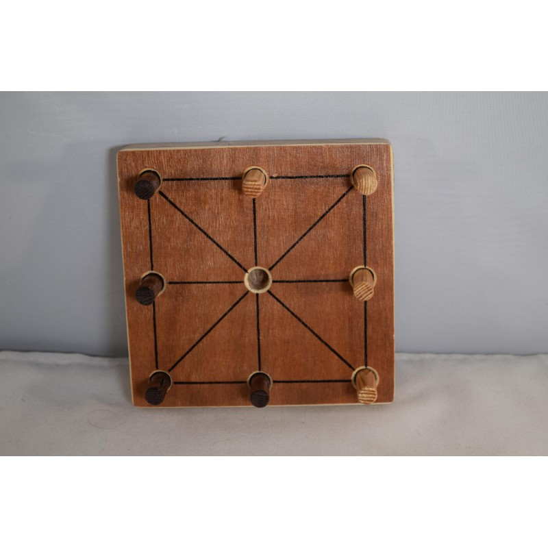 Wooden strategy game Achi