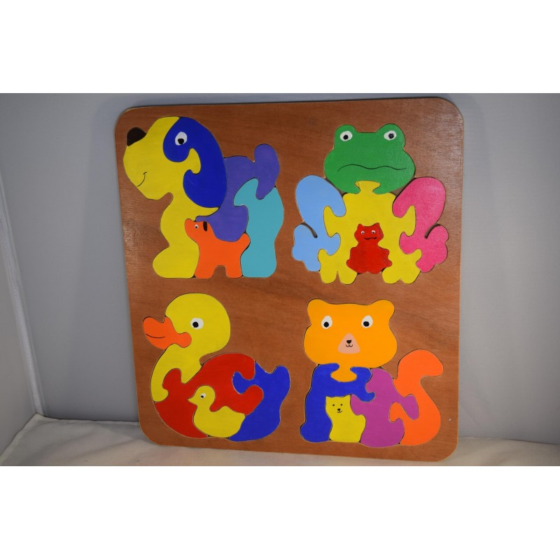 4 x Puzzles in 1 Wooden...