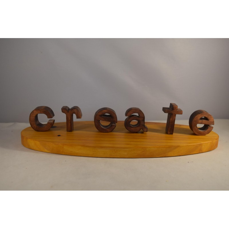 """Wooden """"Create"""" word puzzle"""