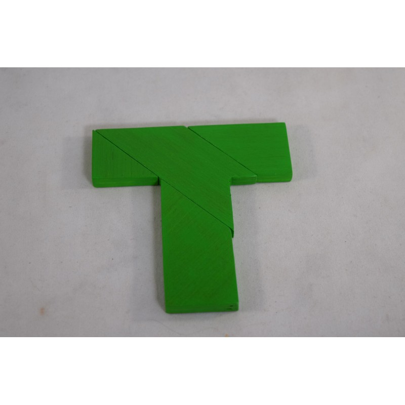 """Wooden 4-piece """"T"""" shaped..."""