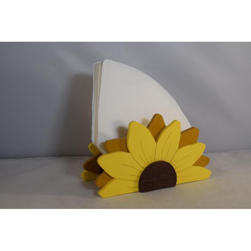 Wooden napkin holder in the...