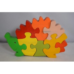Wooden Hedgehog Puzzle or Ornament