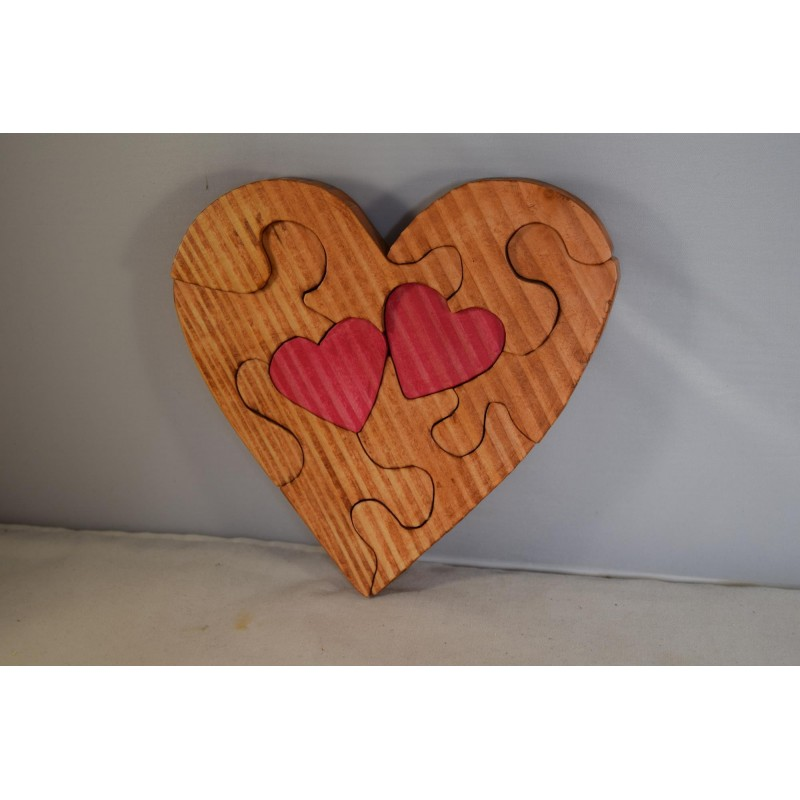 Wooden Heart Jigsaw Puzzle...