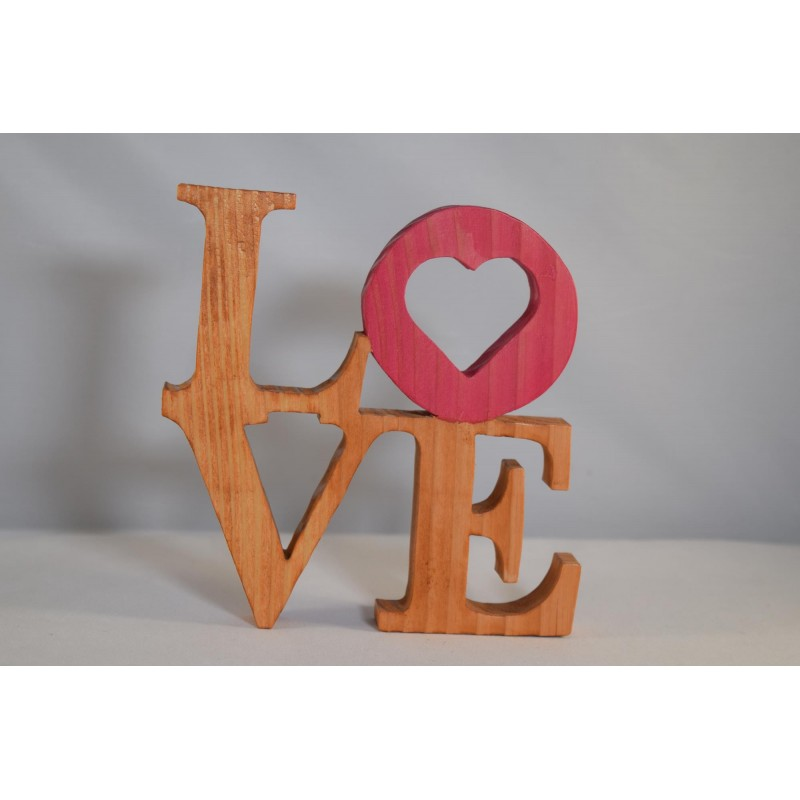 """Wooden Table Ornament """"LOVE"""""""