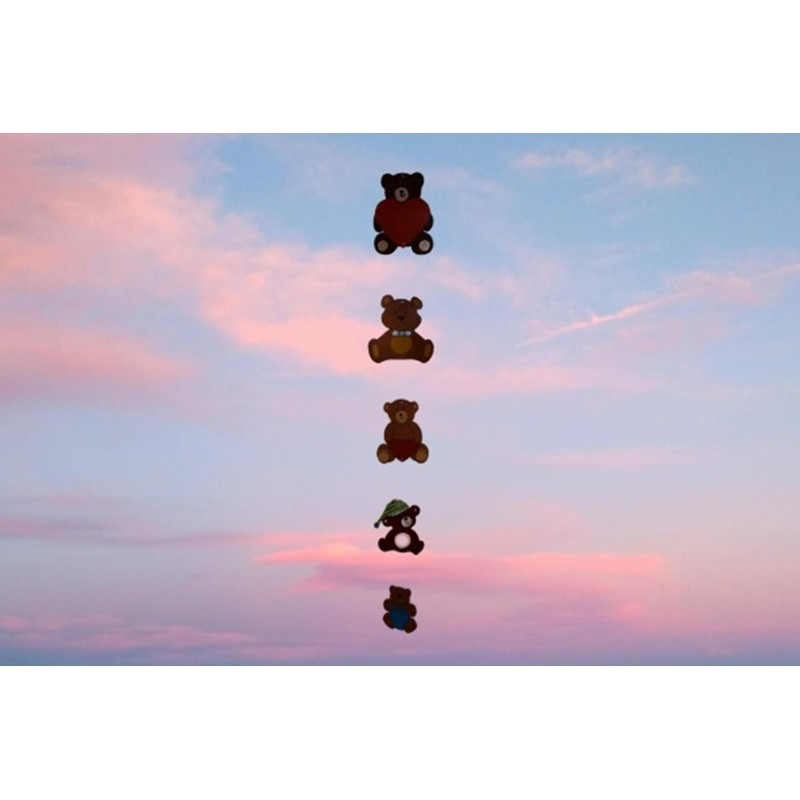 Wooden Mobile of 5 Teddy Bears