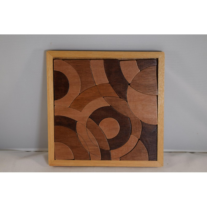 Wooden Puzzle of Circles in...
