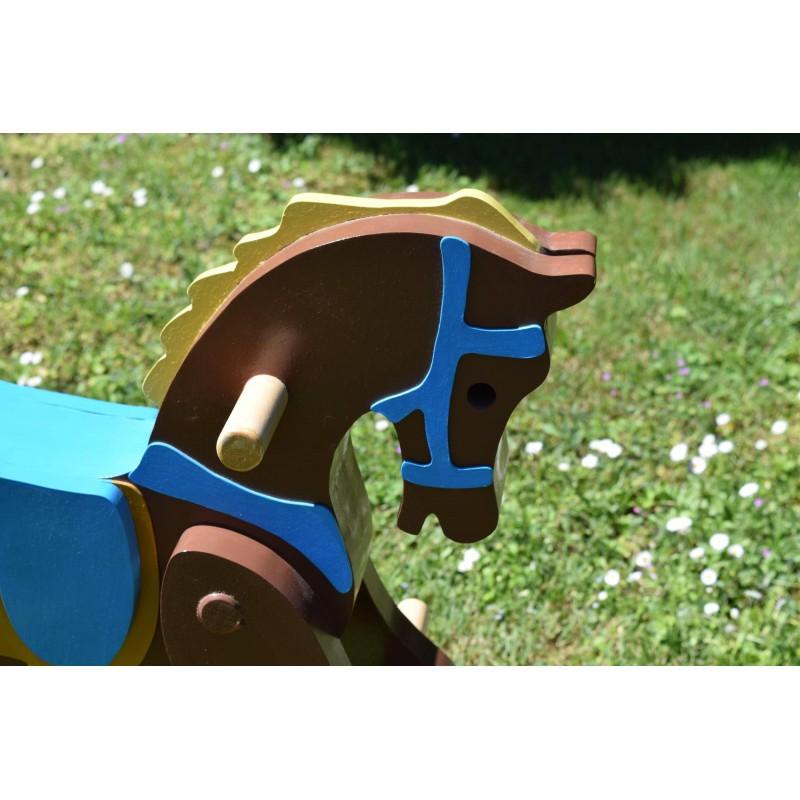 Magestic Antique Replica 1890 Wooden Rocking Horse for Children