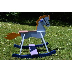 Beautiful wooden rocking horse for children