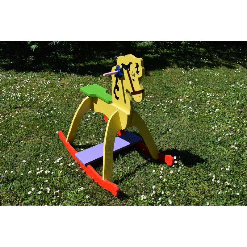 Adorable Wooden Rocking Horse for Children