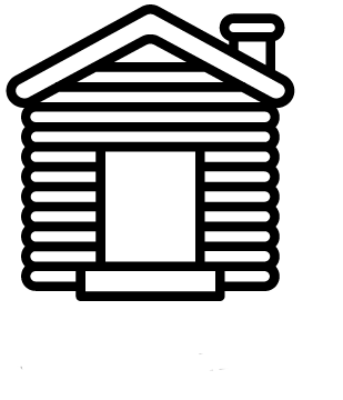 icone d'une maison en bois